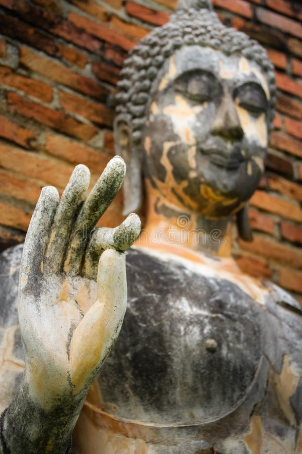 Старым фокус Будды выбранный изображением в наличии стоковые фото