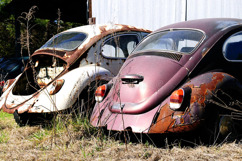 старье volkswagen автомобилей жука стоковые фото