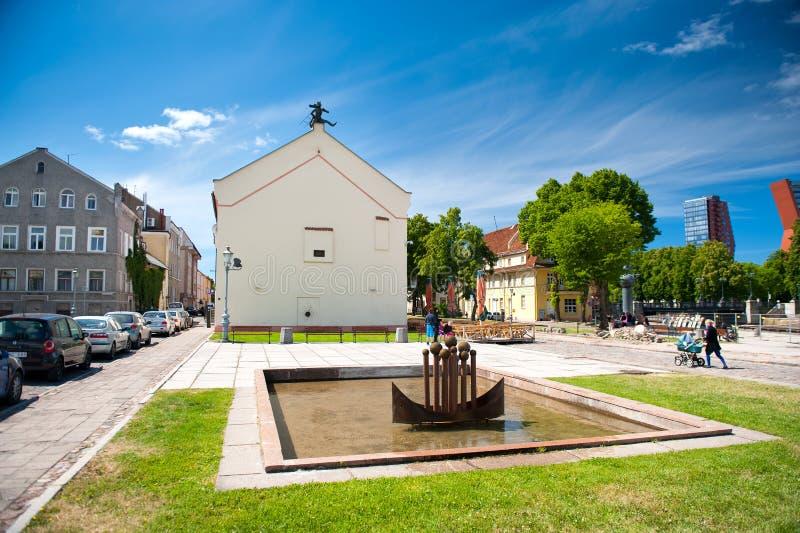 Стар-городок Klaipeda, Литвы стоковые изображения rf