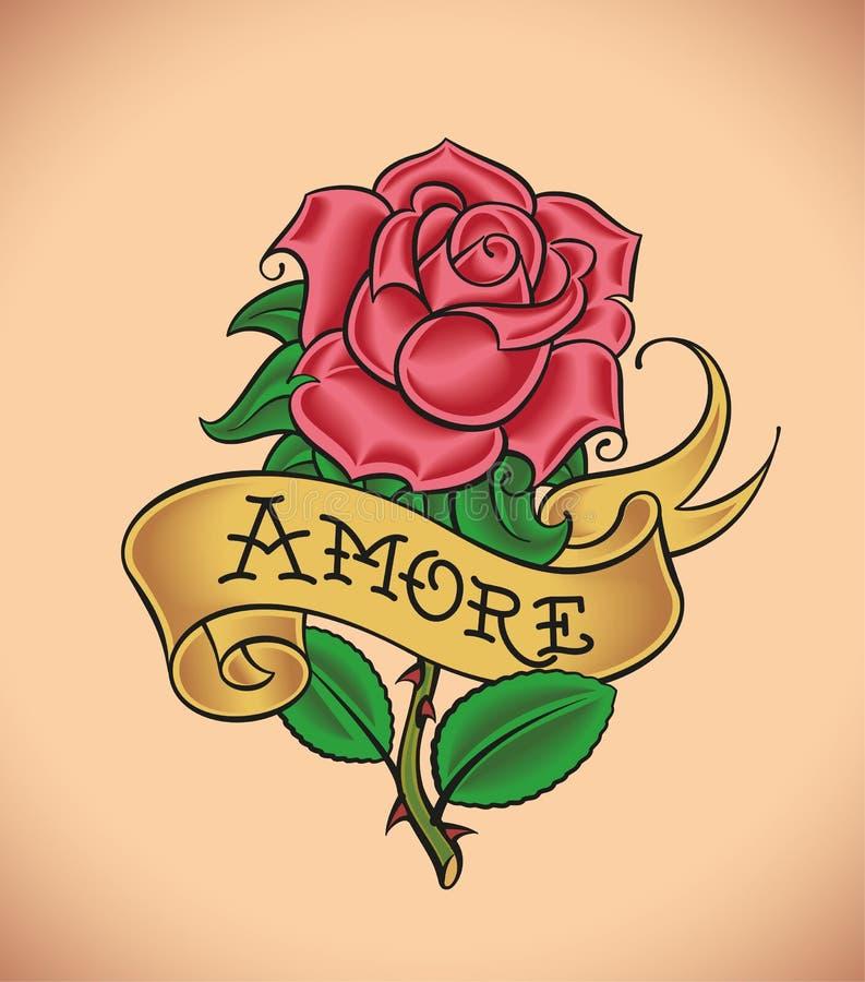 Стар-школа подняла - Amore бесплатная иллюстрация