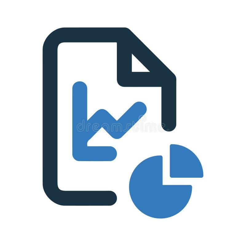 Статистика значок, организация файла иллюстрация вектора