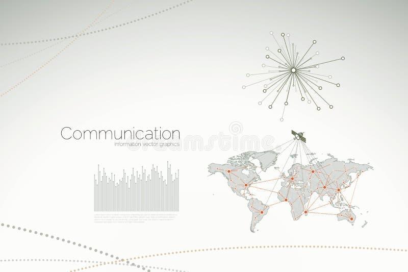 статистик диаграмм связи корпоративные иллюстрация вектора