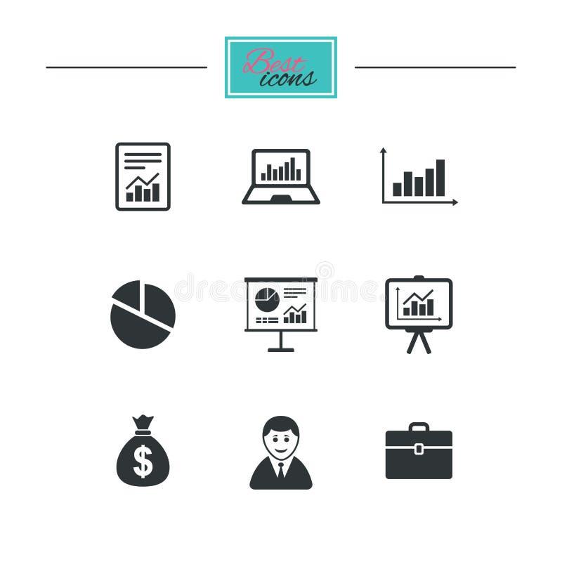 Download Статистик, учитывая значки Знаки диаграмм Иллюстрация вектора - иллюстрации насчитывающей серо, деньги: 81805995