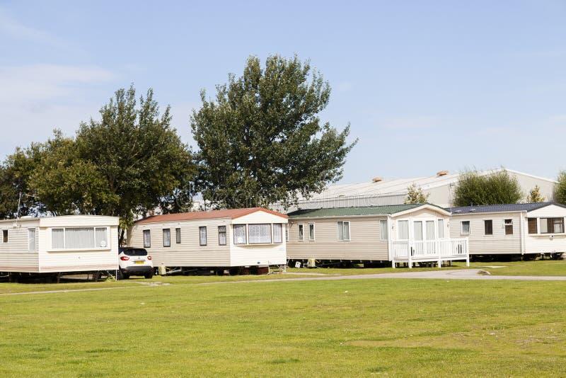Статический парк Уэльс g праздника каравана B стоковое фото