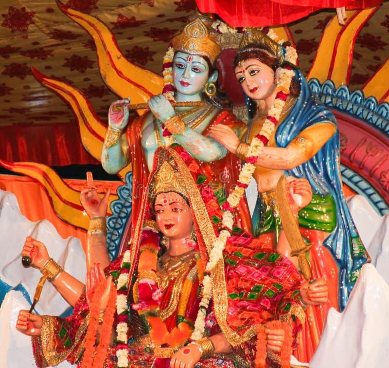 Статуи индусских бога и богинь стоковое фото rf