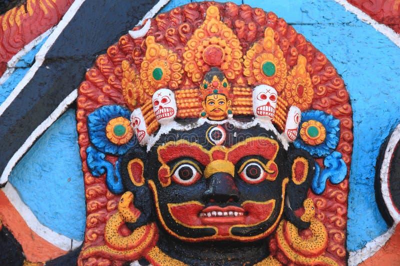 Статуи индусских богов Kali в Катманду (Непале). стоковое изображение rf