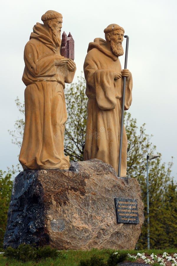 Статуи Святого Roch и Святого Romuald в Suwalki, Польше стоковая фотография rf