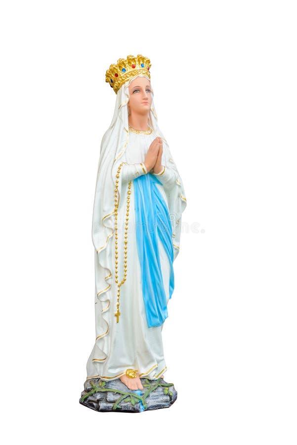 Статуи святых женщин (благословленной девой марии) в римско-католическом стоковые изображения rf