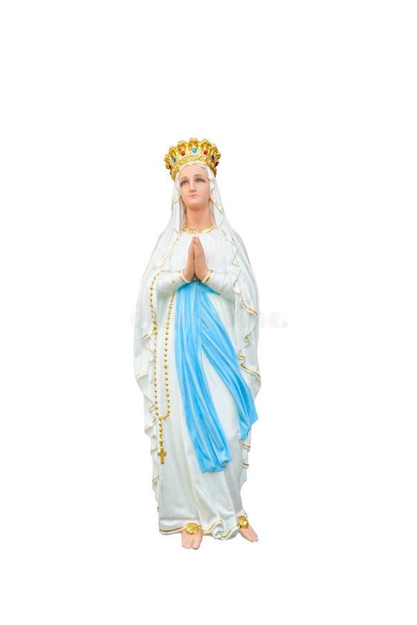 Статуи святых женщин в римско-католической церков изолированной на белизне стоковая фотография rf