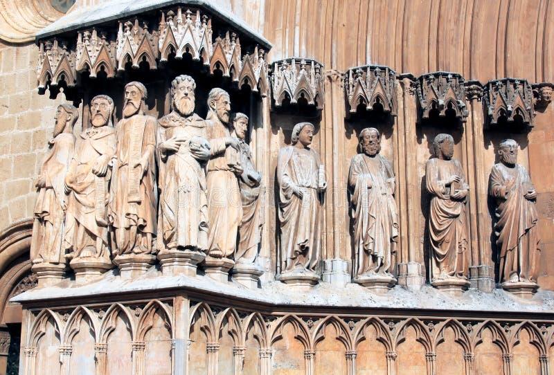 статуи tarragona Испании собора Каталонии стоковые изображения rf