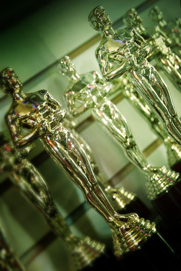 Статуэтки Оскара, бульвар Голливуда, Лос-Анджелес стоковые фотографии rf