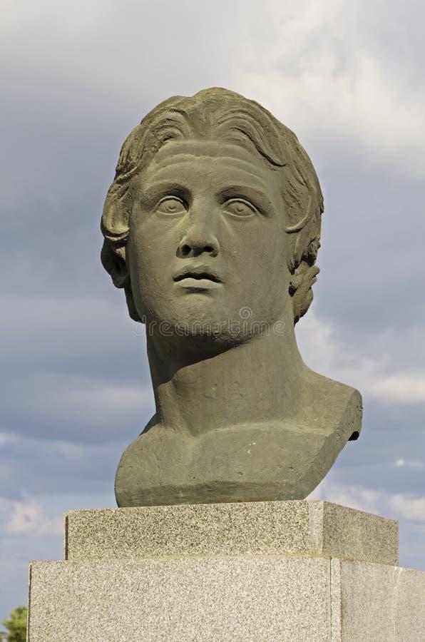 статуя Александра большая стоковое изображение rf