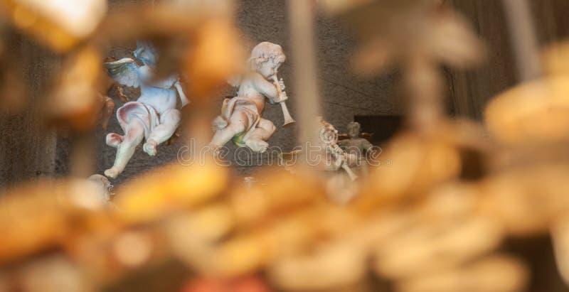 Статуя Анджела с каннелюрой стоковое изображение