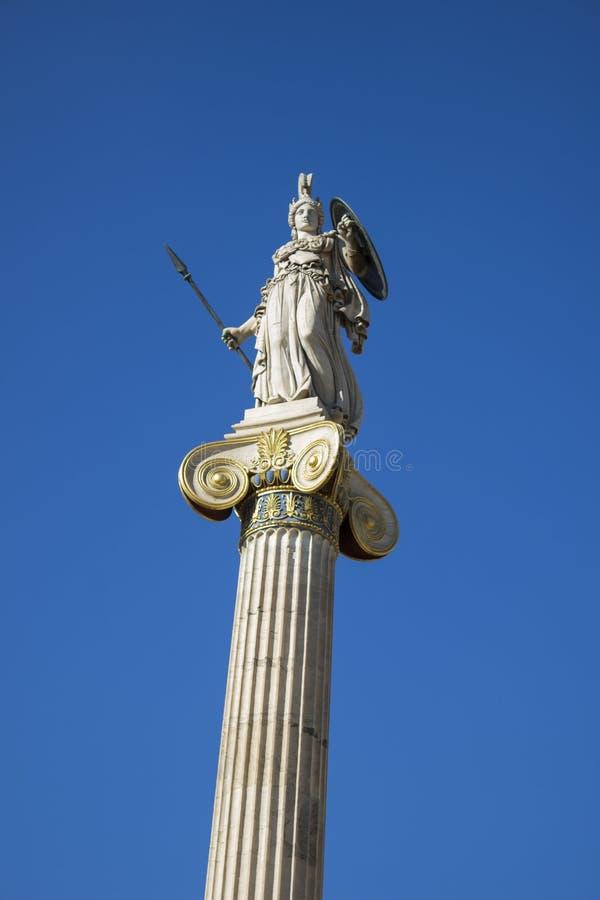 Статуя богини Афины из современной академии Афин, Греция стоковое фото