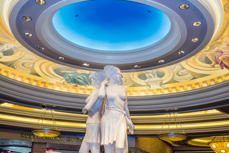 Статуя богини дворца Caesars стоковая фотография