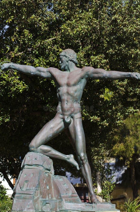 Статуя, более низкое Barrakka, Валлетта Мальта стоковое изображение rf