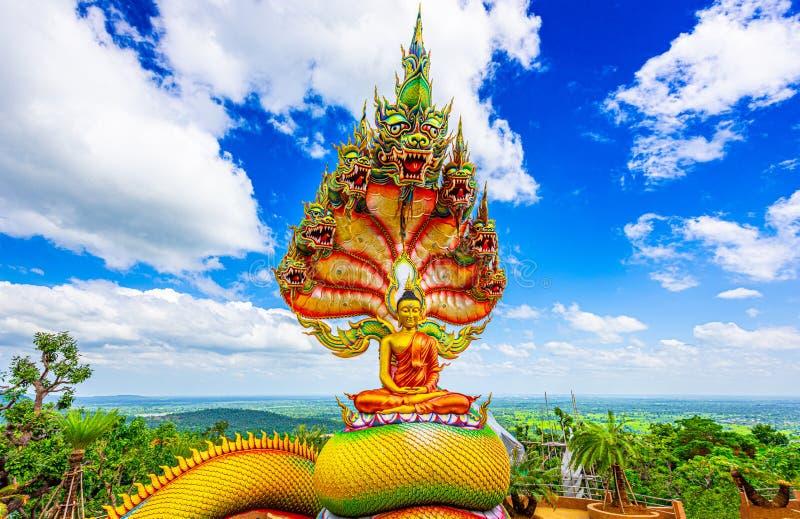 статуя Будды в храме tham pha daen,провинция сакон нахон ,таиланд стоковые изображения rf
