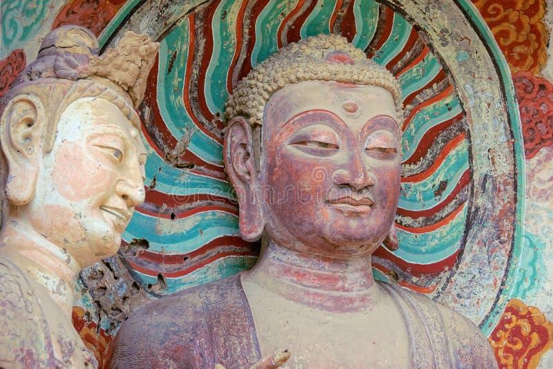 Статуя Будды горы Maiji стоковая фотография