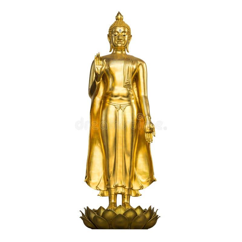 Статуя Будды изолированная на белой предпосылке стоковые фото