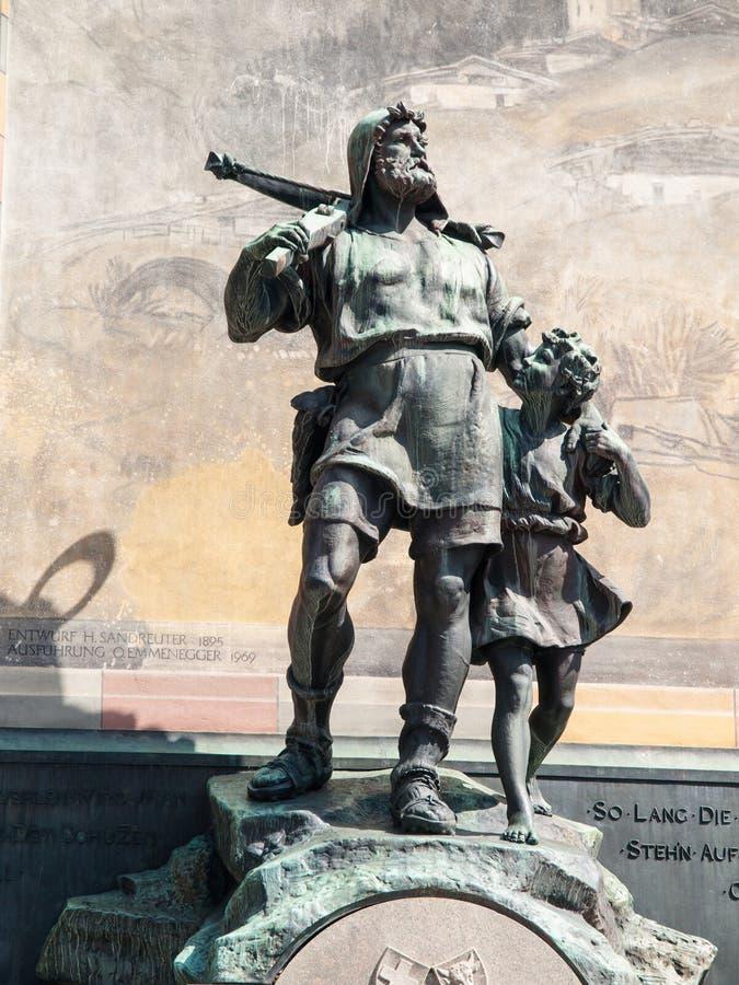 Статуя Вильгельма говорит и его сынок Вальтер стоковое фото