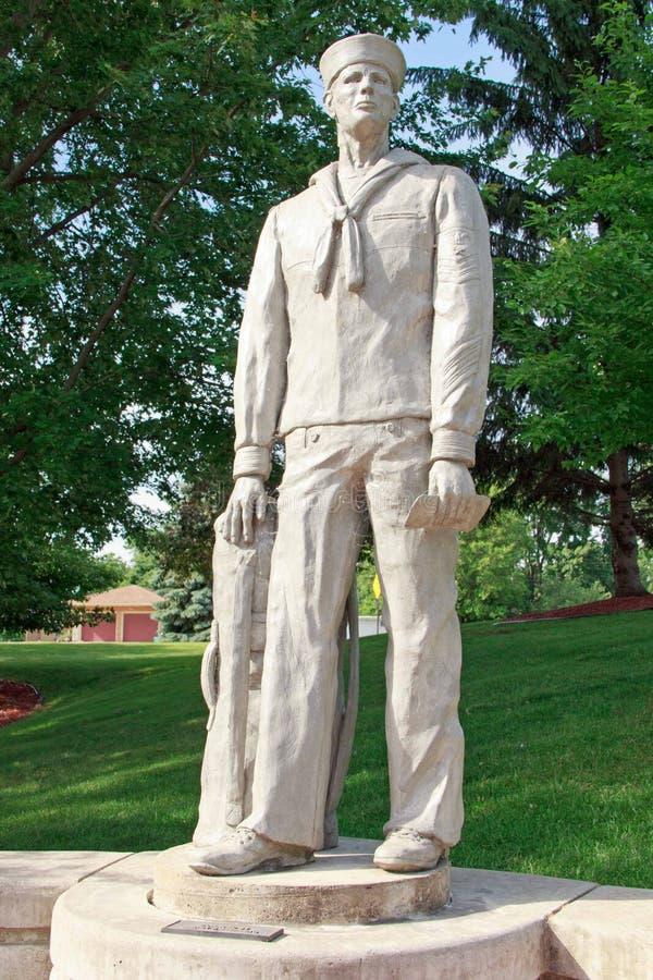 Статуя военно-морского флота стоковое фото