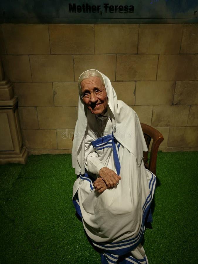 Статуя воска матери Тереза стоковое изображение
