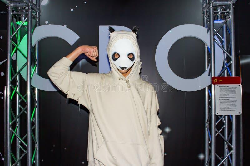 Статуя воска CRO DJ, Msueum Мадам Tussaud's, Вены стоковые фотографии rf