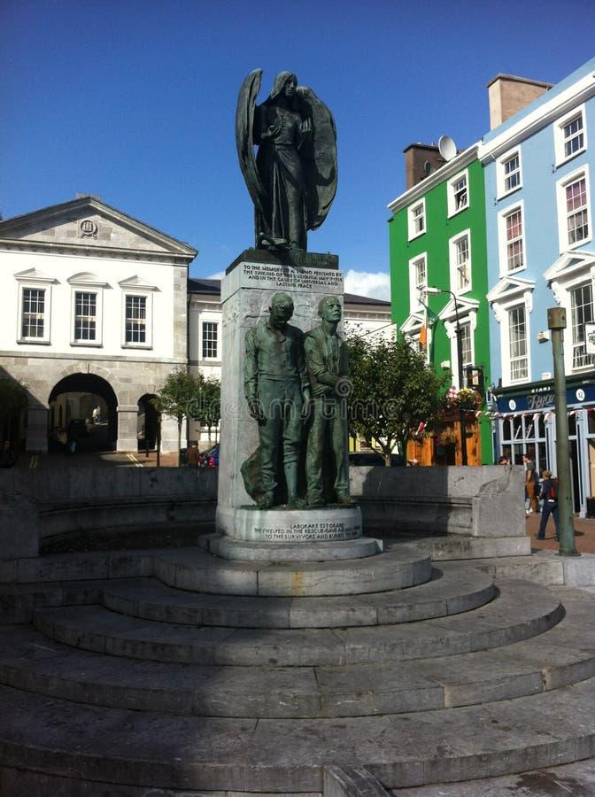 Статуя в городской Ирландии стоковые фотографии rf