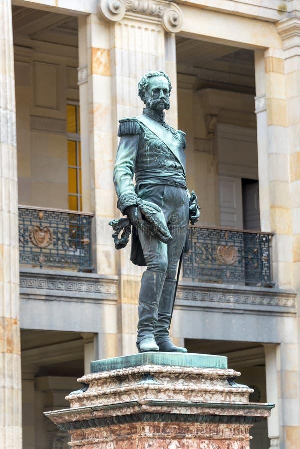 Статуя в конгрессе Колумбии стоковые фото