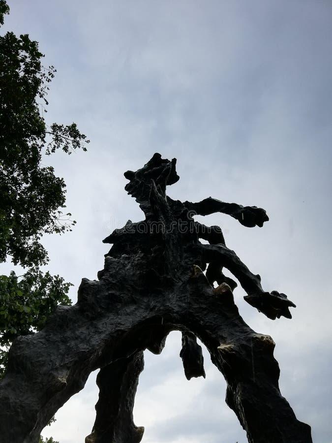 Статуя в Краков, Польша дракона стоковые изображения rf