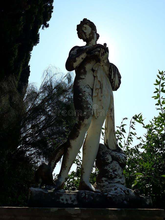 Статуя в саде дворца Sissi стоковое изображение rf