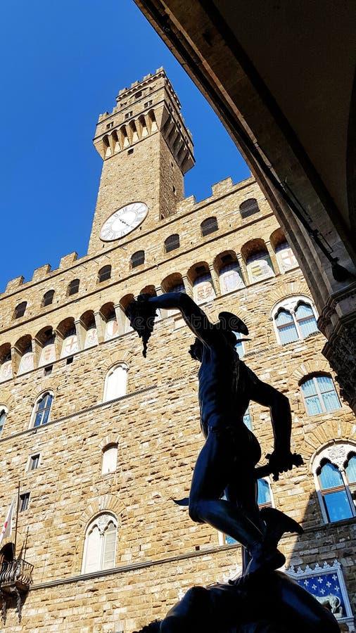 Статуя в dei Lanzi лоджии в Флоренсе, Италии стоковые изображения rf