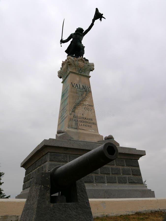 Статуя генерала Kellermann на месте сражения Valmy стоковая фотография rf