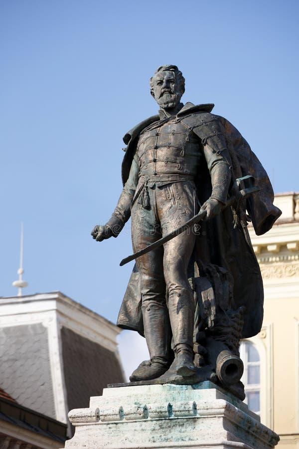 Статуя генерала Klapka стоковые изображения rf