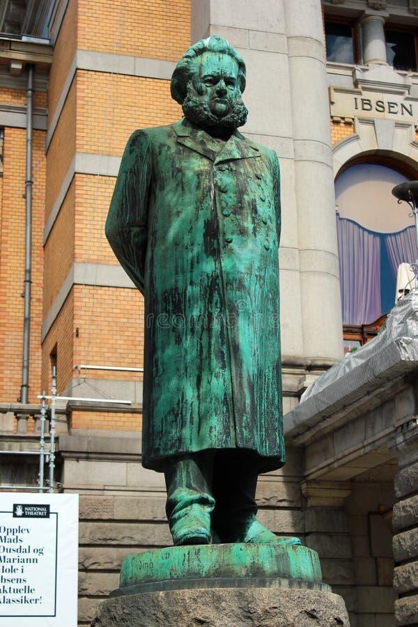 Статуя Генрик Ибсен в Осло, Норвегии стоковые изображения