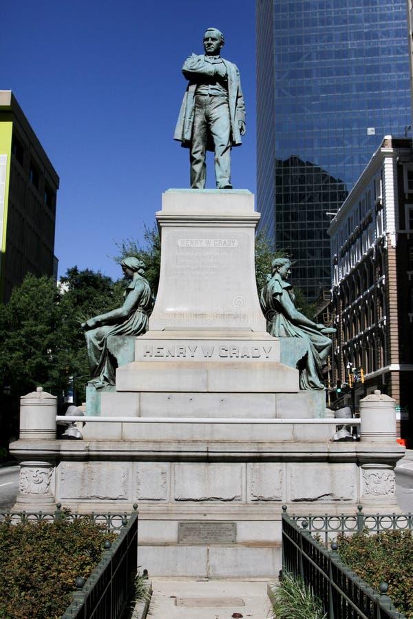 Статуя Генри Grady, Атланта, GA стоковое изображение rf