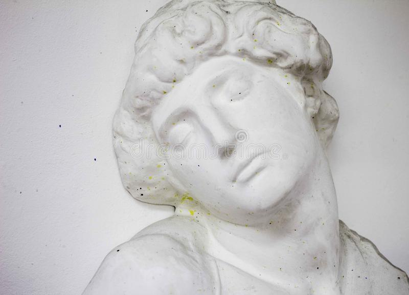 Статуя гипса головная стоковое изображение