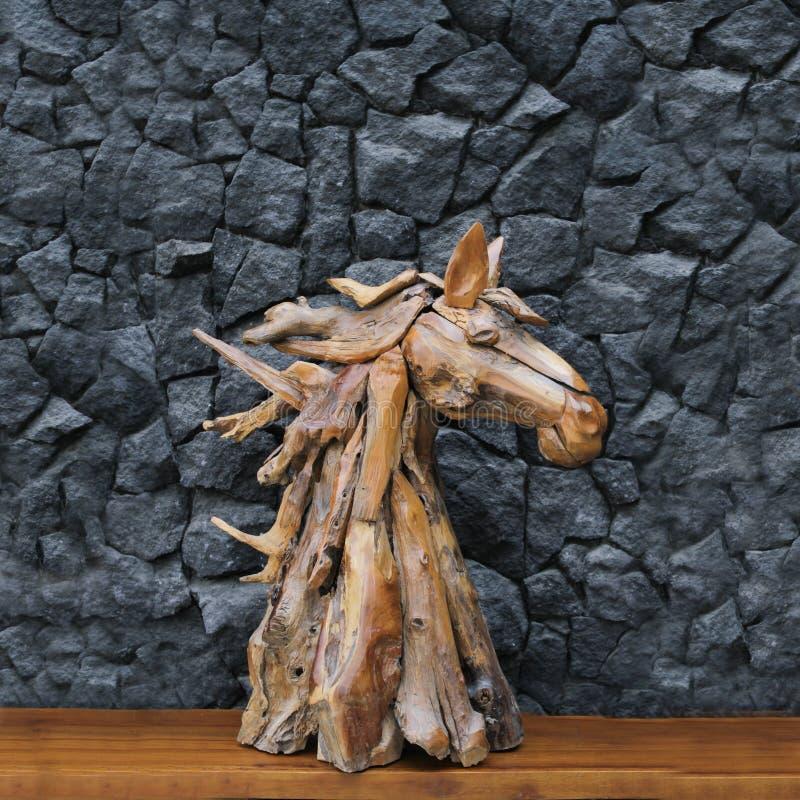 Статуя головы лошади стоковые изображения