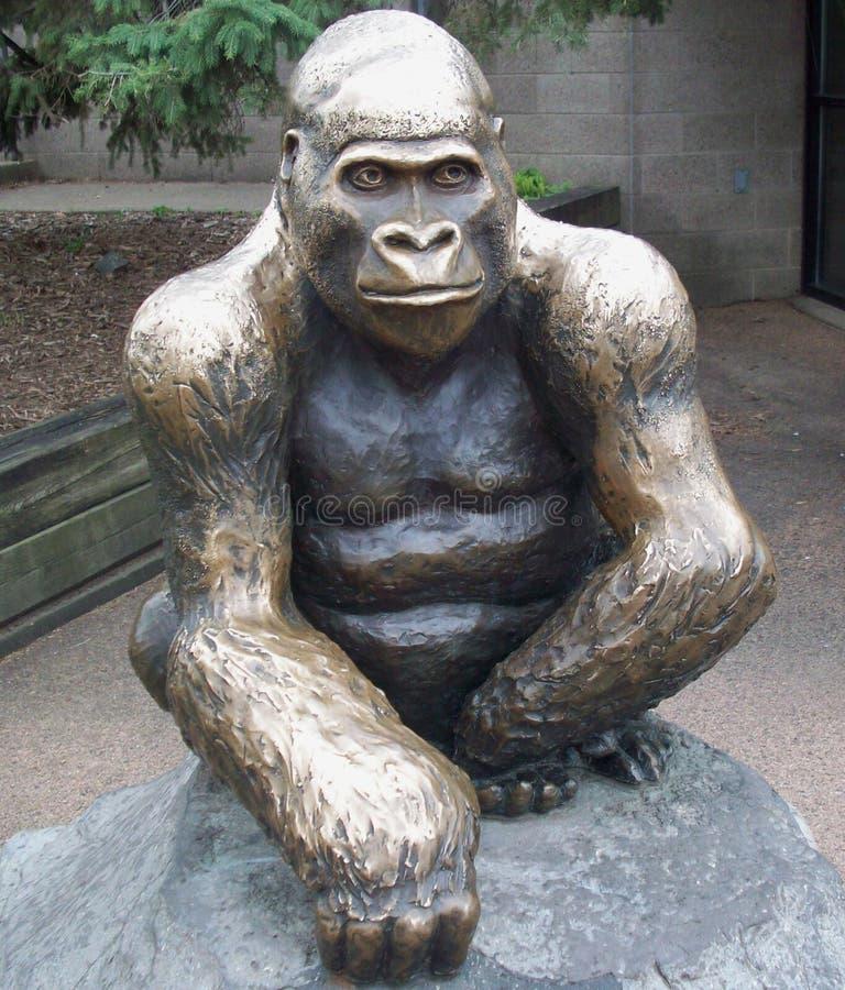 Статуя гориллы стоковые фото