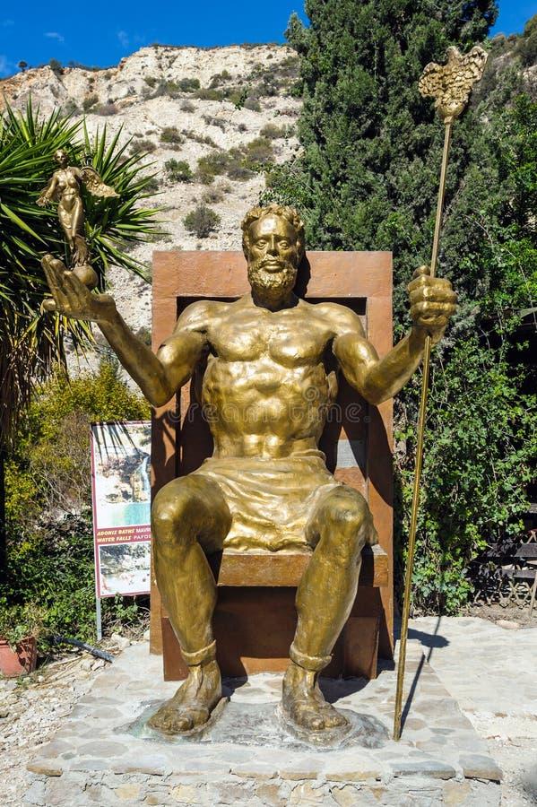 Статуя греческого Зевса бога стоковое фото rf