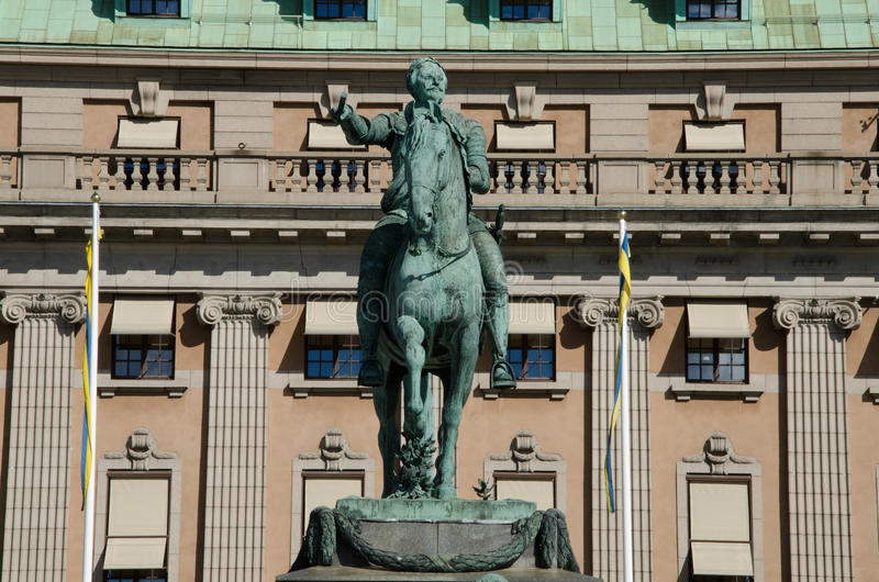 Статуя Густава Adolphus в Стокгольме, Швеции стоковые изображения