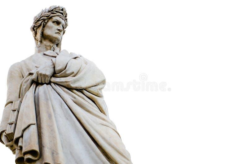 Статуя Данте Алигьери стоковые фотографии rf