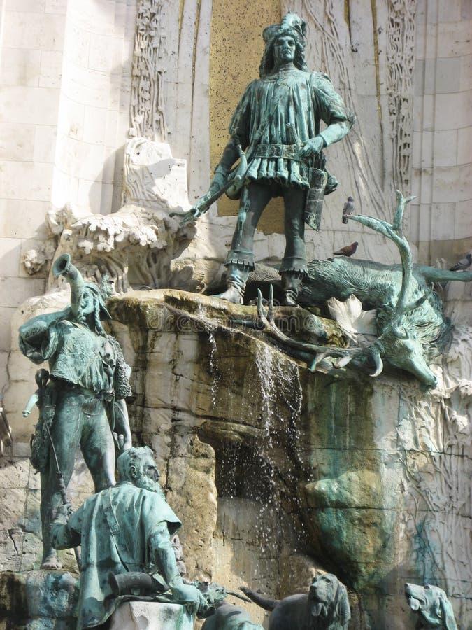 статуя дворца budapest королевская стоковое фото