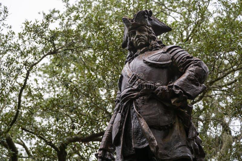 Статуя Джеймс Oglethorpe стоковое изображение rf