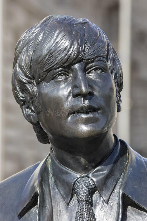 Статуя Джон Леннон в Ливерпуле стоковое изображение