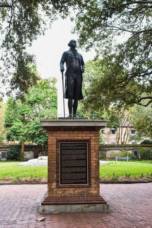 Статуя Джорджа Вашингтона в парке Вашингтона, Чарлстоне, SC стоковое изображение rf