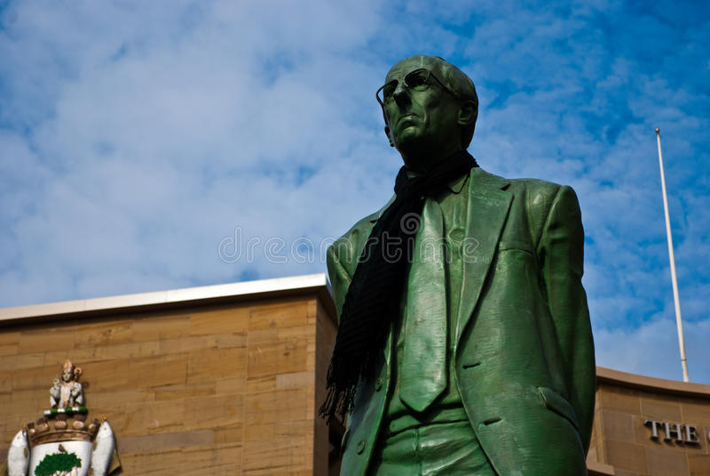 Статуя дюара Дональд на улице Buchanan, Глазго стоковые изображения rf
