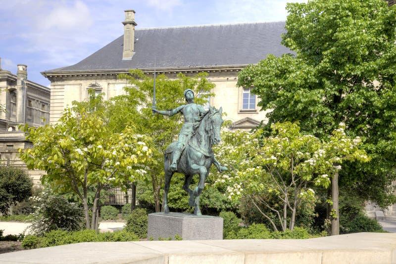 Статуя Жанны д'Арк стоковые изображения
