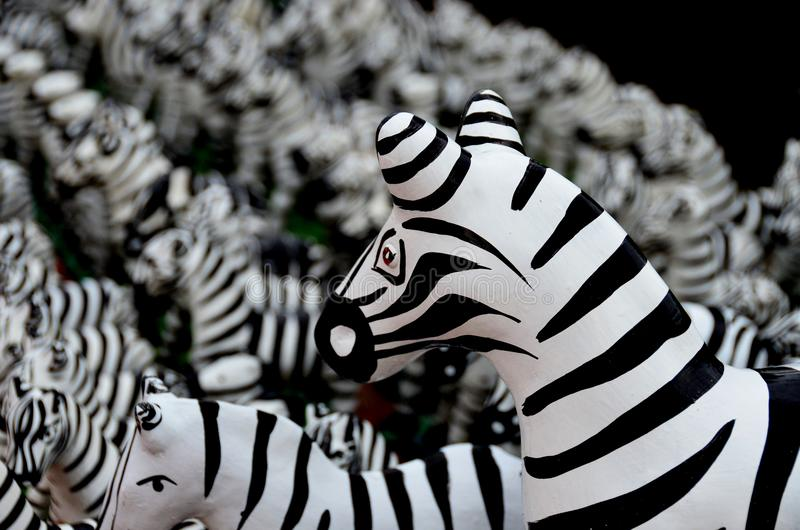 Статуя зебры в Таиланде стоковое фото