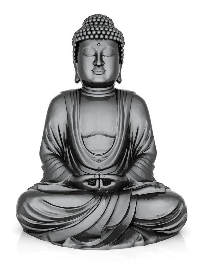 статуя золота Будды иллюстрация штока